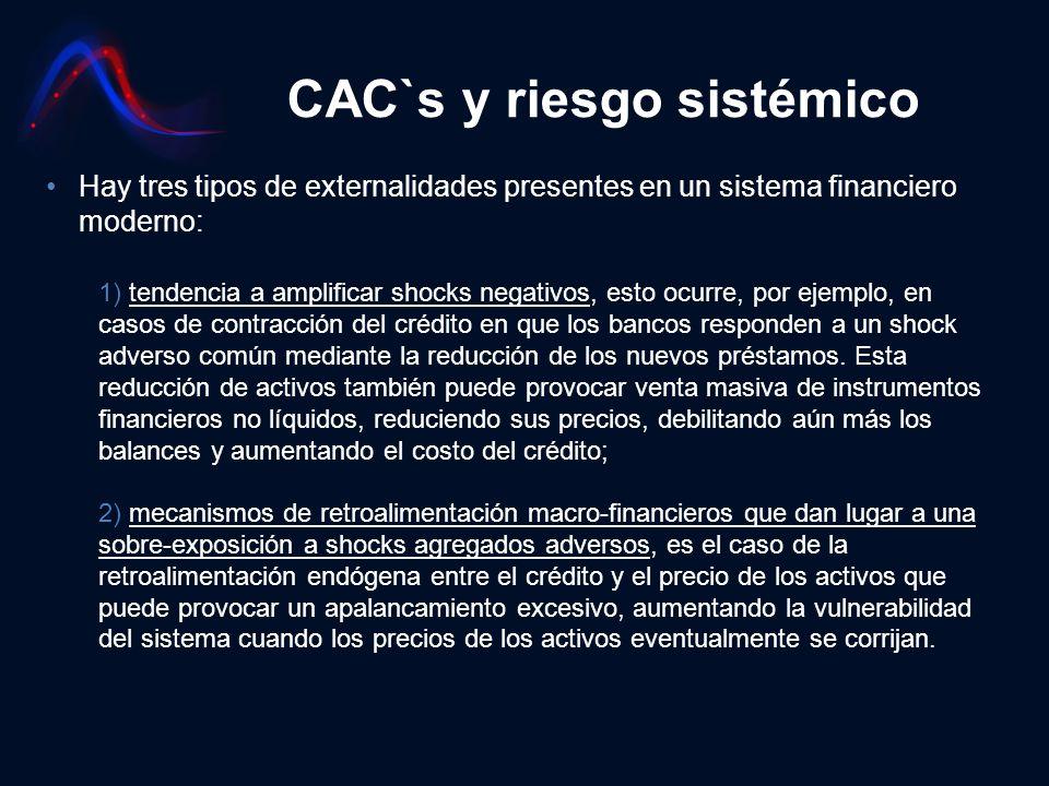 CAC`s y riesgo sistémico