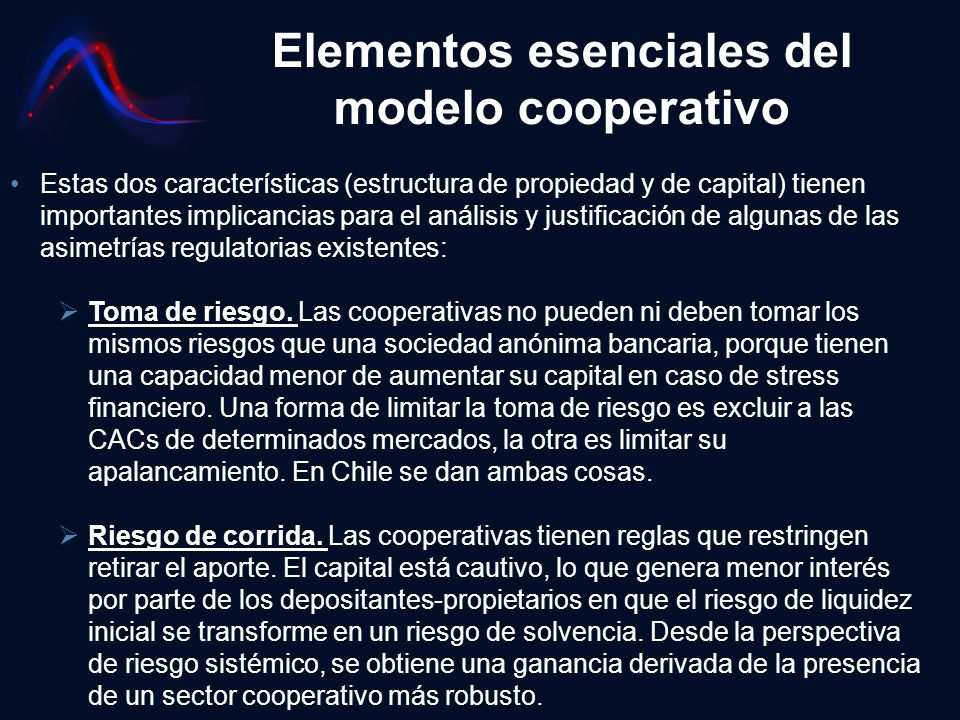 Elementos esenciales del modelo cooperativo