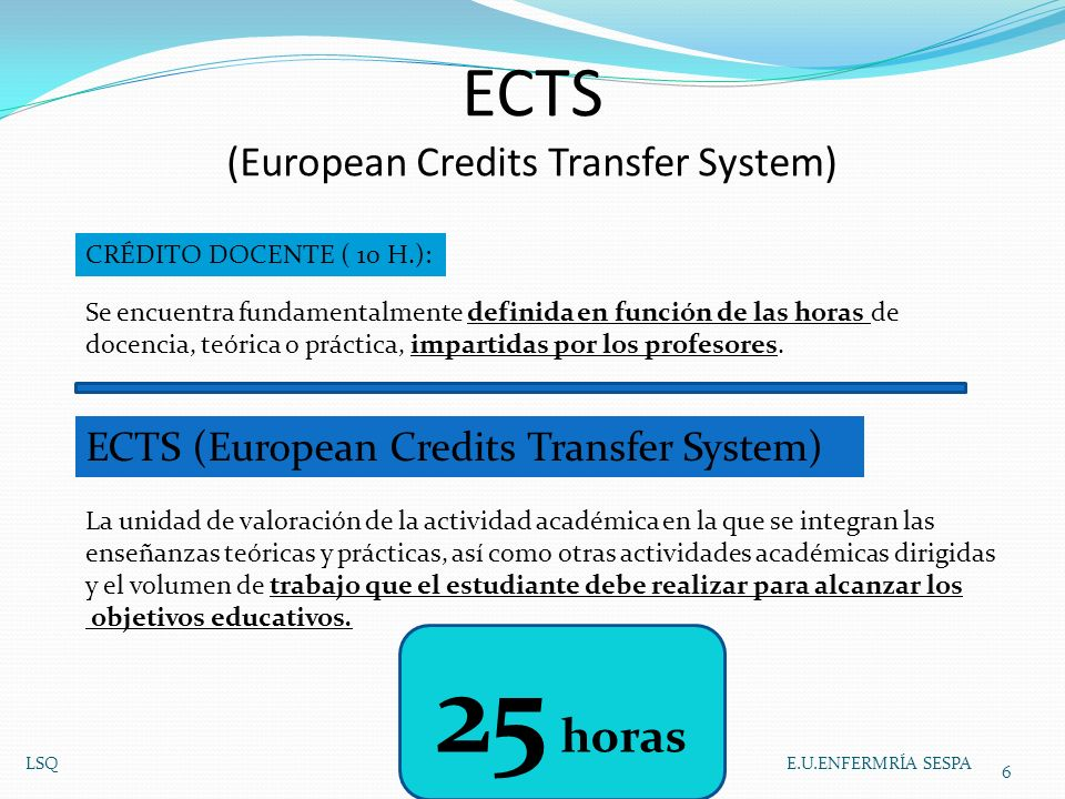 ECTS (European Credits Transfer System)