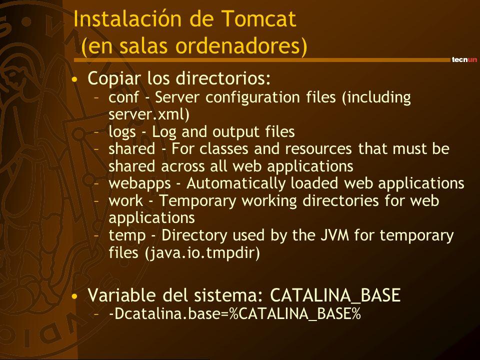 Instalación de Tomcat (en salas ordenadores)