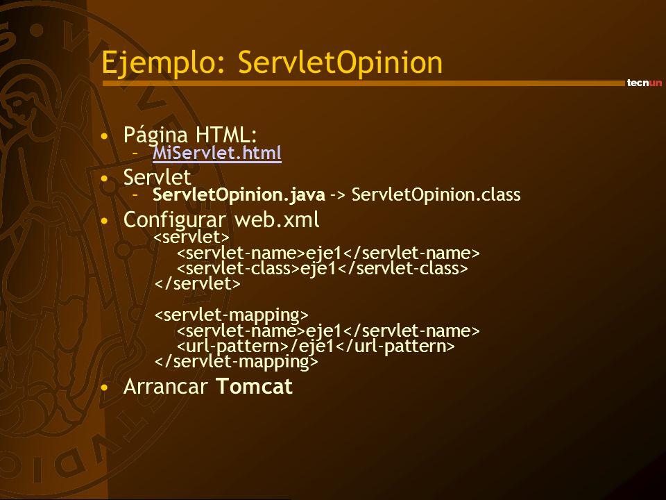 Ejemplo: ServletOpinion
