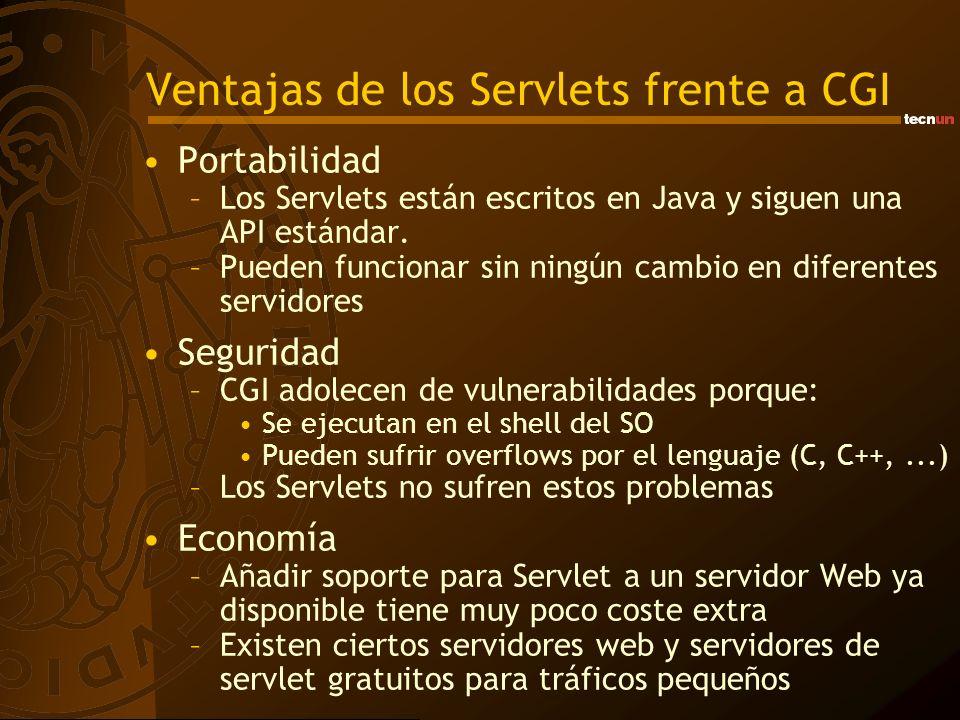Ventajas de los Servlets frente a CGI