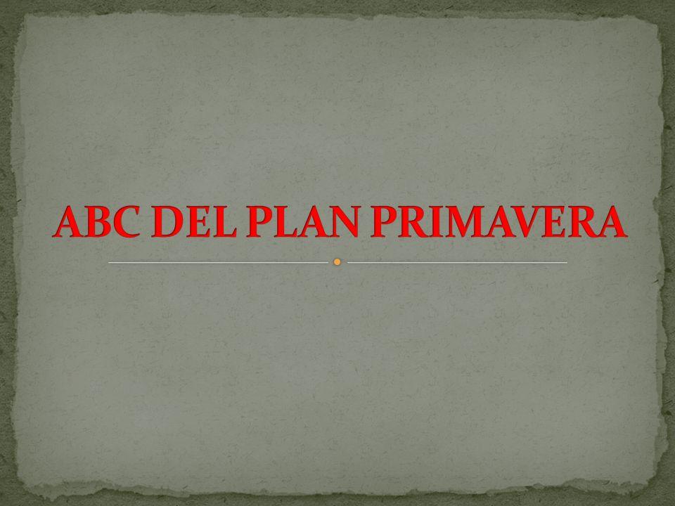 ABC DEL PLAN PRIMAVERA