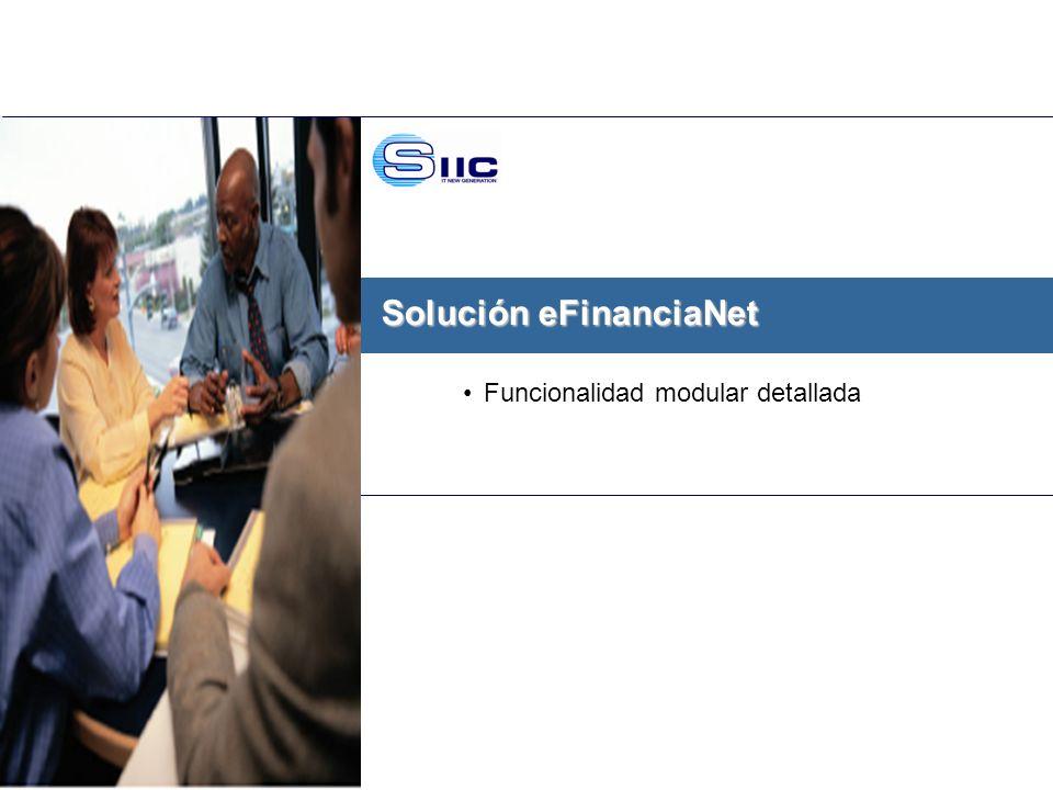 Solución eFinanciaNet
