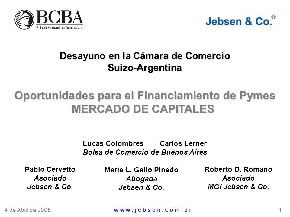 Oportunidades para el Financiamiento de Pymes MERCADO DE CAPITALES