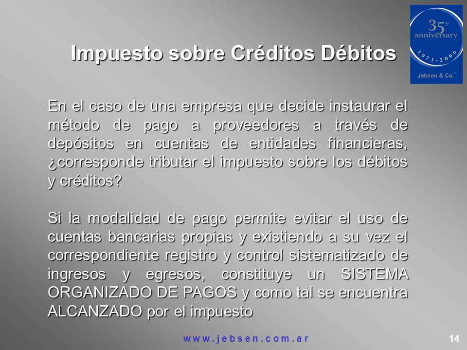 Impuesto sobre Créditos Débitos