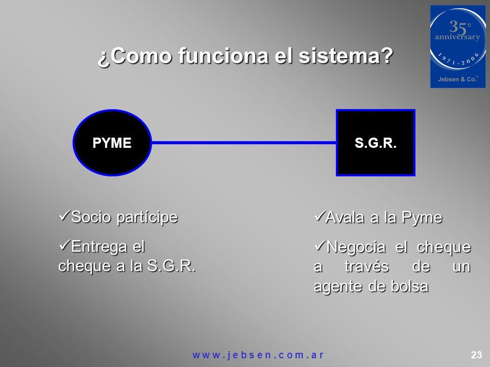 ¿Como funciona el sistema