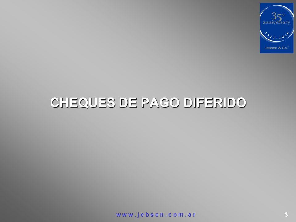 CHEQUES DE PAGO DIFERIDO