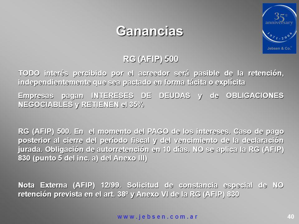 Ganancias RG (AFIP) 500.