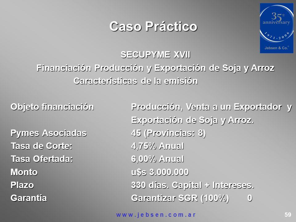 Financiación Producción y Exportación de Soja y Arroz