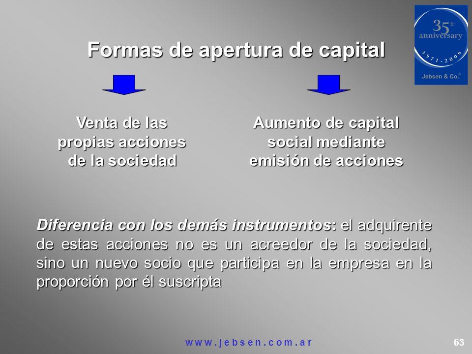 Formas de apertura de capital
