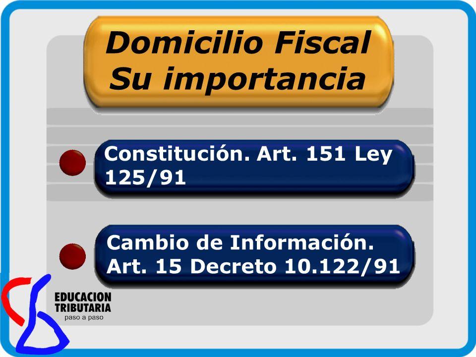 Domicilio Fiscal Su importancia