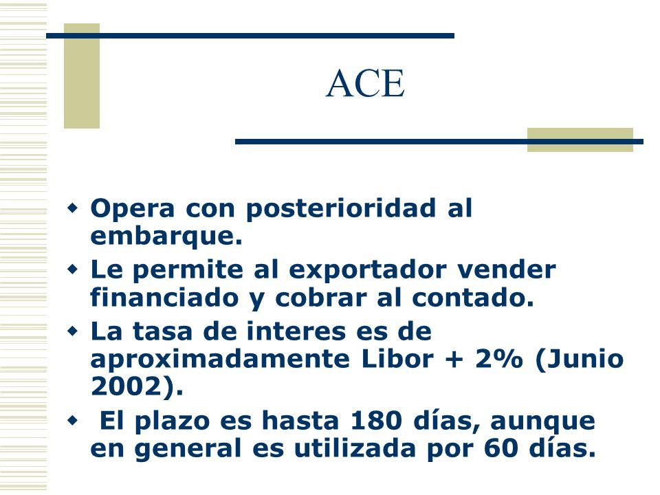ACE Opera con posterioridad al embarque.