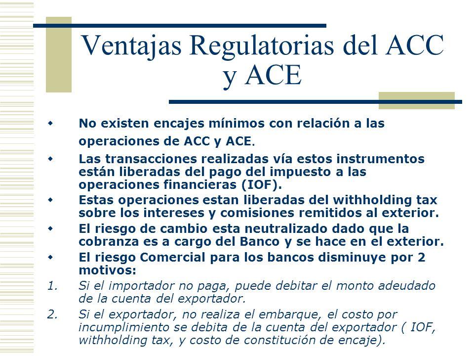 Ventajas Regulatorias del ACC y ACE