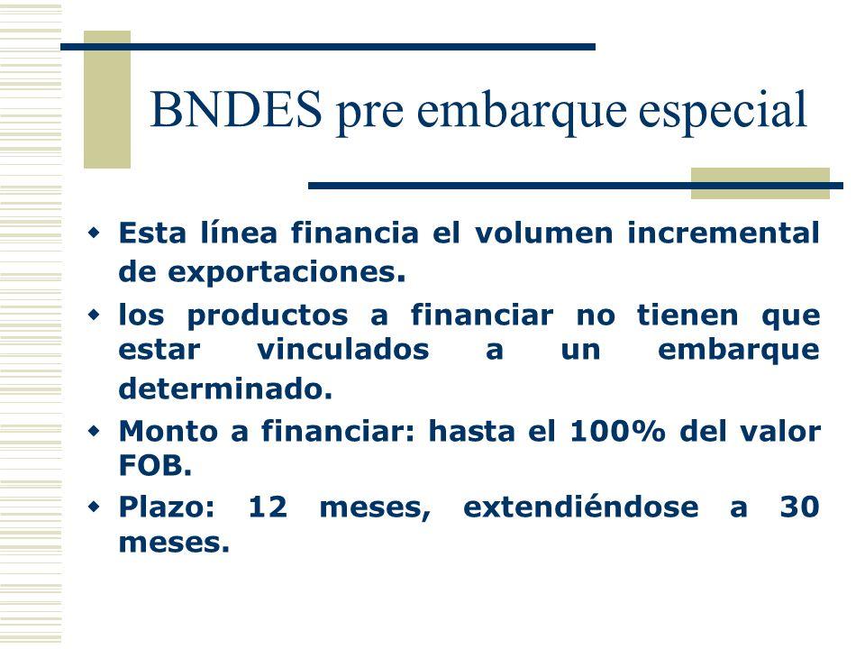 BNDES pre embarque especial