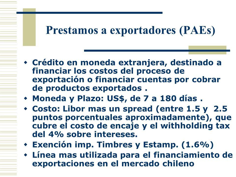 Prestamos a exportadores (PAEs)