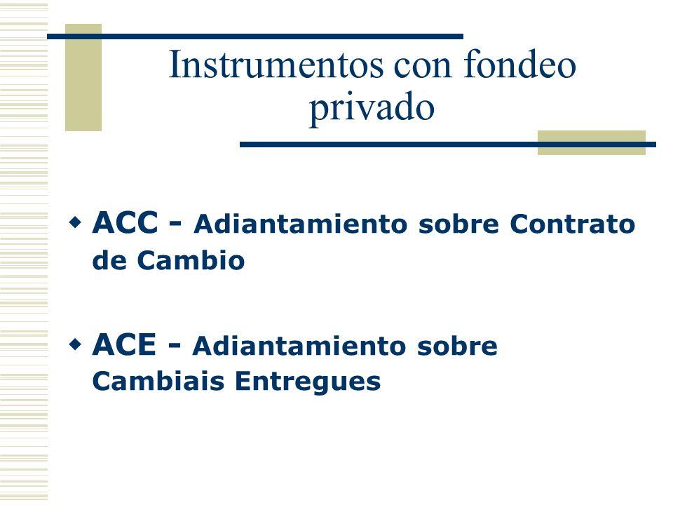 Instrumentos con fondeo privado