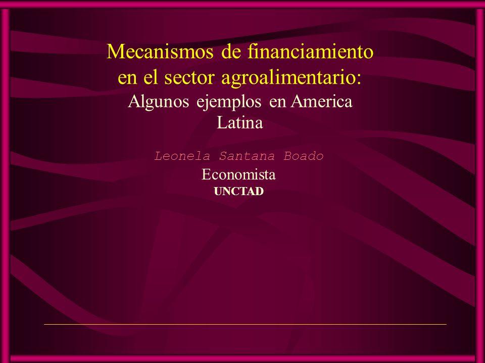 Mecanismos de financiamiento en el sector agroalimentario: