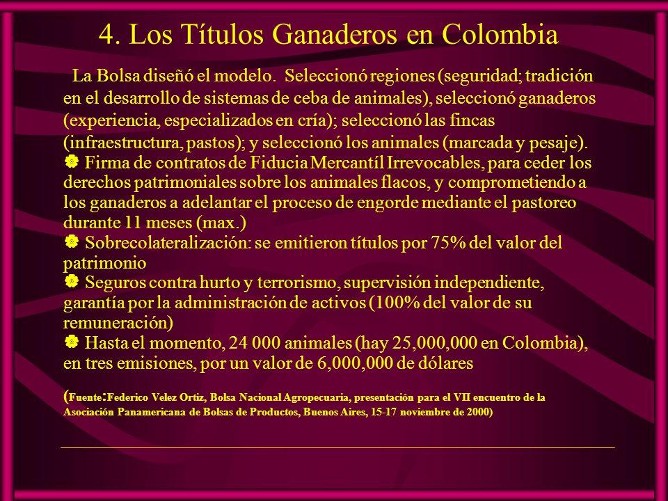 4. Los Títulos Ganaderos en Colombia