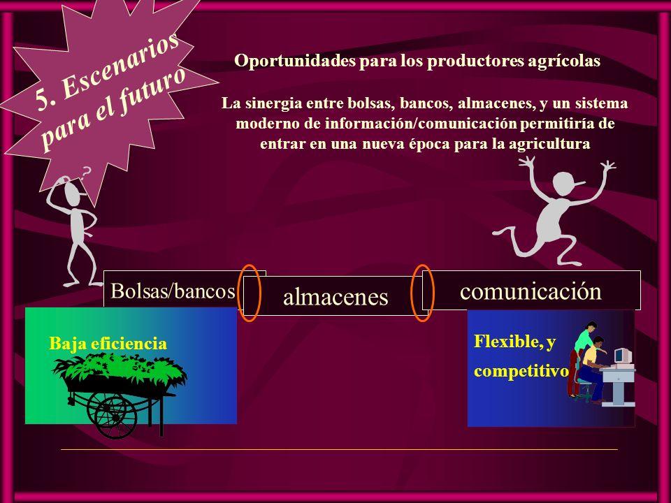 5. Escenarios para el futuro comunicación almacenes Bolsas/bancos