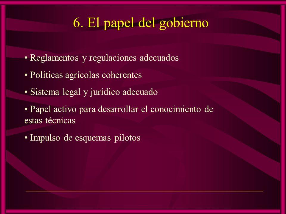 6. El papel del gobierno Reglamentos y regulaciones adecuados