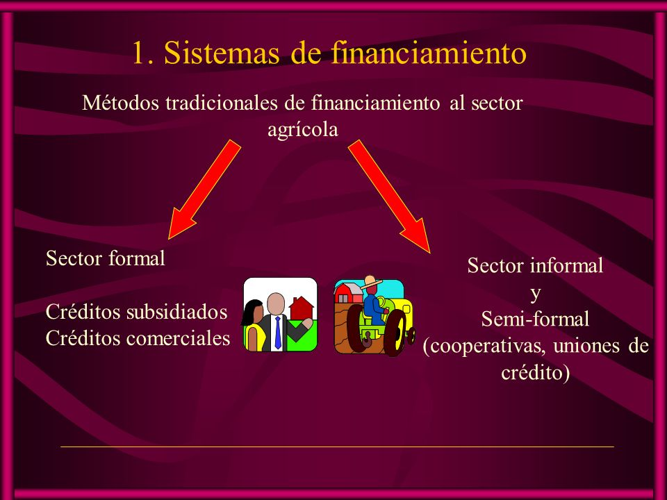 1. Sistemas de financiamiento