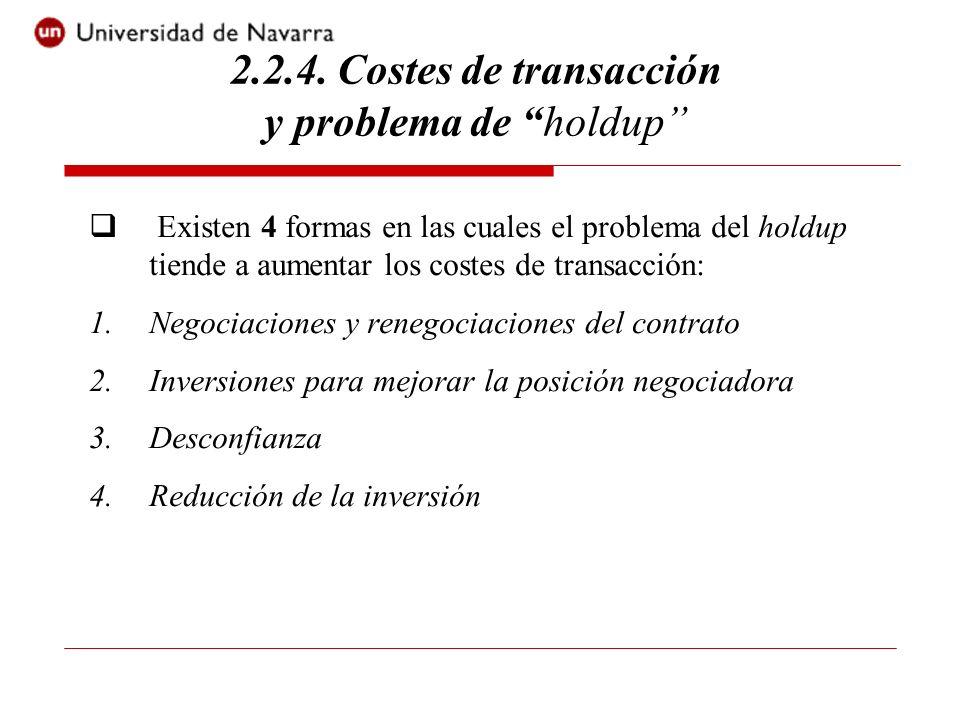 2.2.4. Costes de transacción y problema de holdup