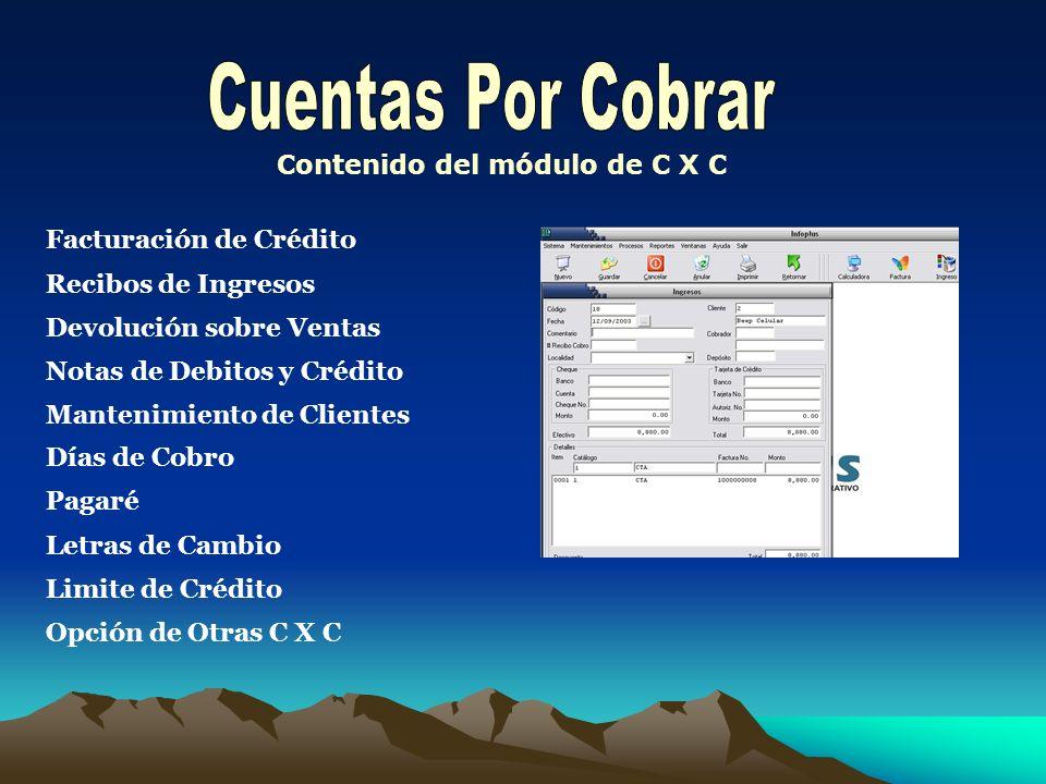 Contenido del módulo de C X C