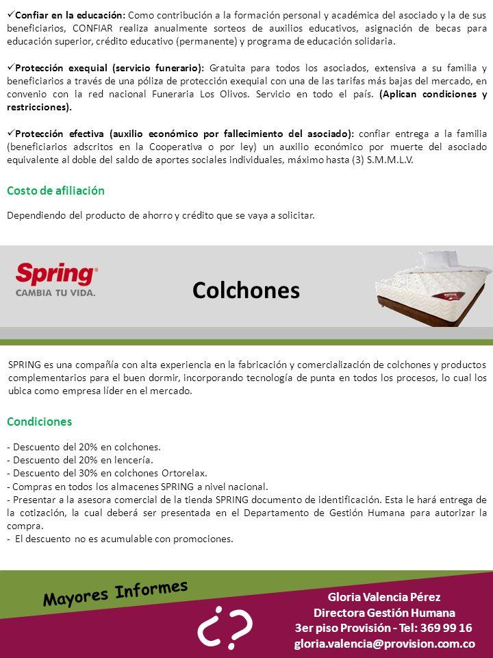Directora Gestión Humana 3er piso Provisión - Tel: 369 99 16