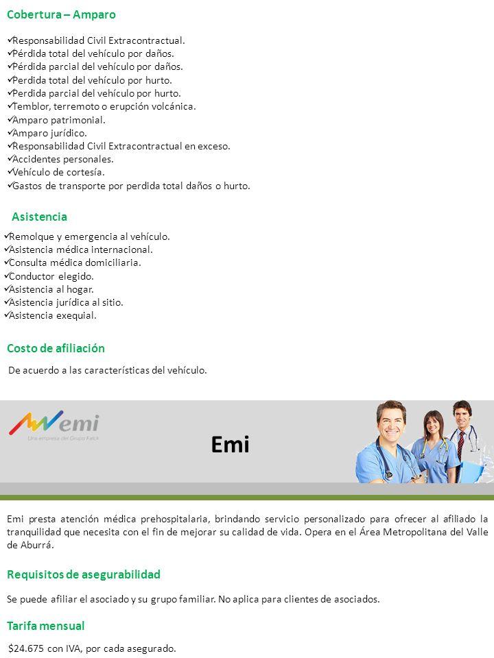 Emi Cobertura – Amparo Asistencia Costo de afiliación