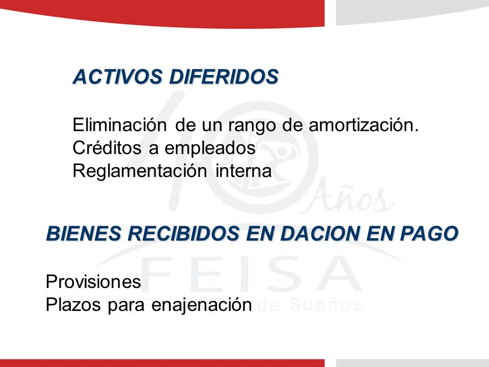 BIENES RECIBIDOS EN DACION EN PAGO