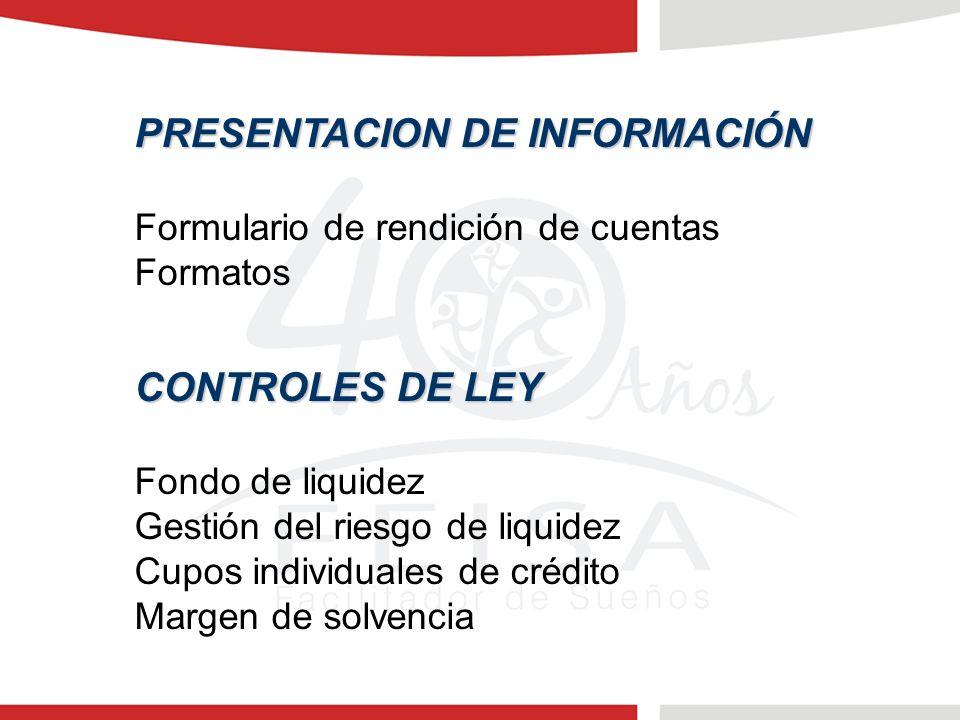 PRESENTACION DE INFORMACIÓN