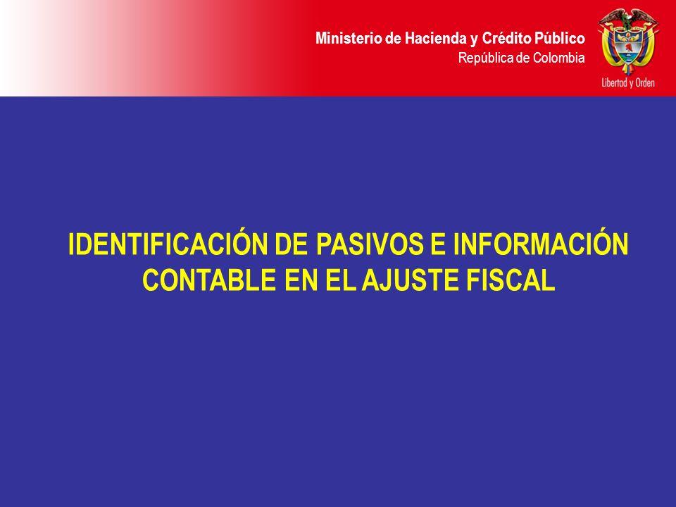 IDENTIFICACIÓN DE PASIVOS E INFORMACIÓN CONTABLE EN EL AJUSTE FISCAL