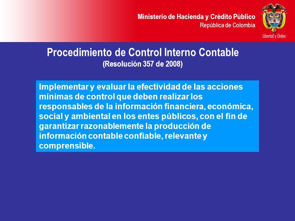 Procedimiento de Control Interno Contable