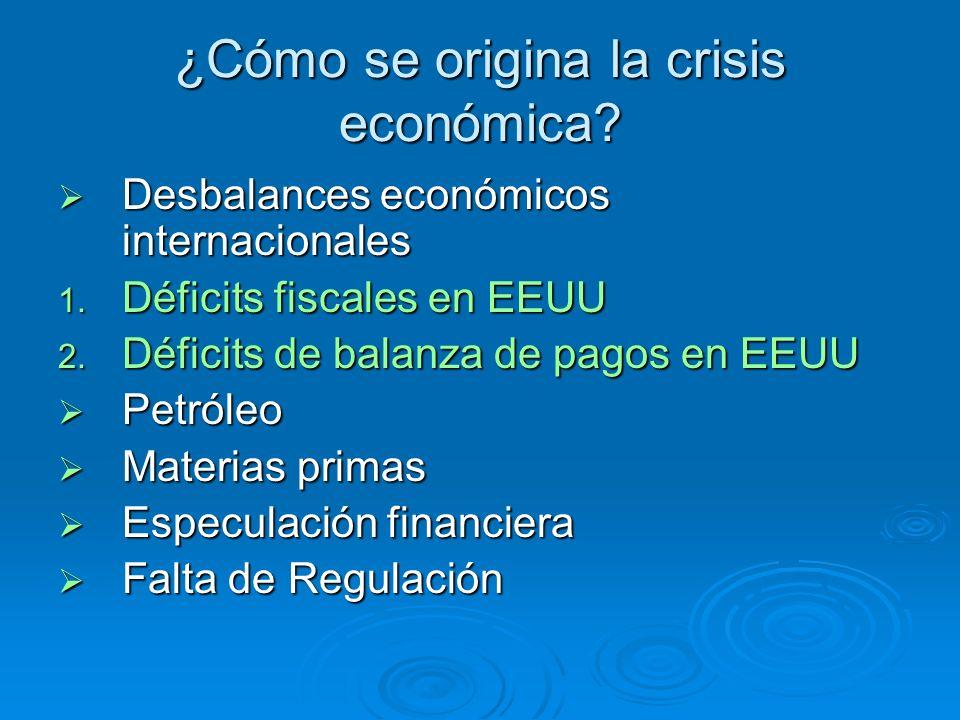 ¿Cómo se origina la crisis económica
