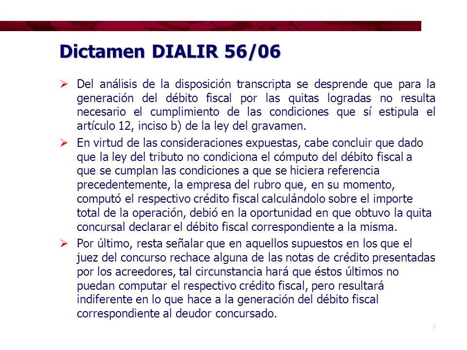 Dictamen DIALIR 56/06