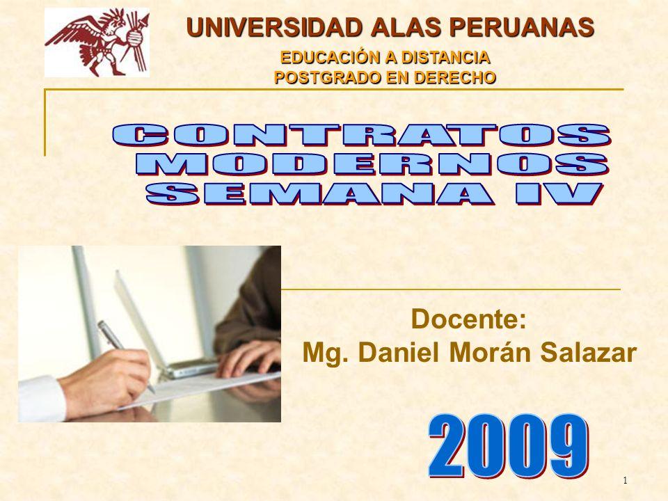 UNIVERSIDAD ALAS PERUANAS Mg. Daniel Morán Salazar