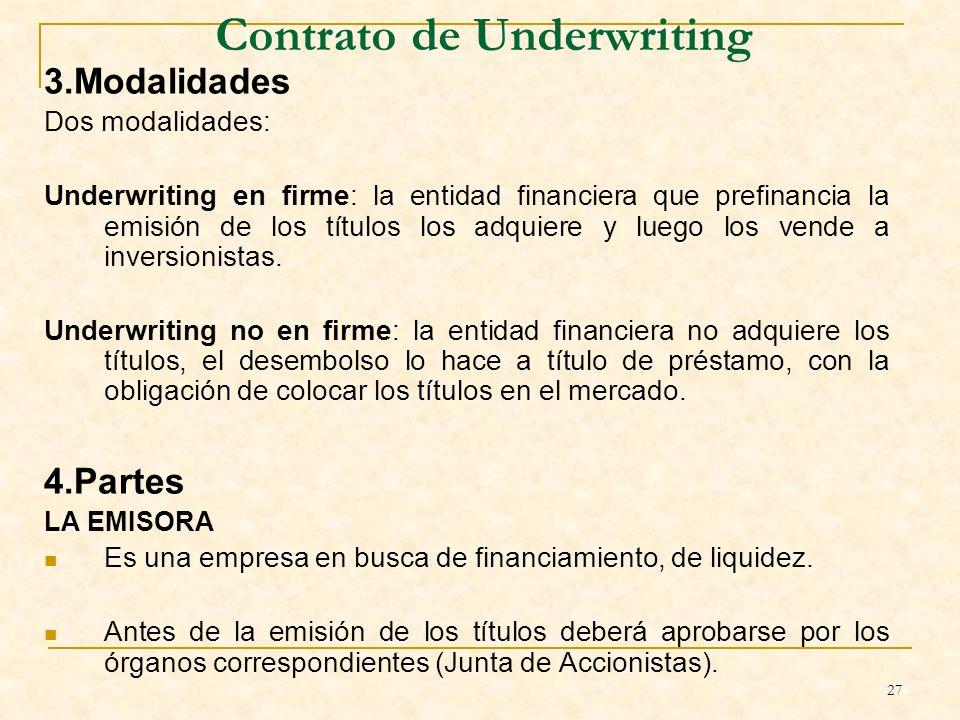 Contrato de Underwriting
