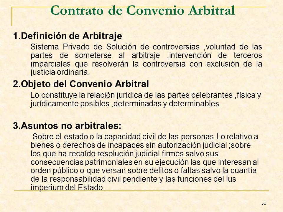 Contrato de Convenio Arbitral