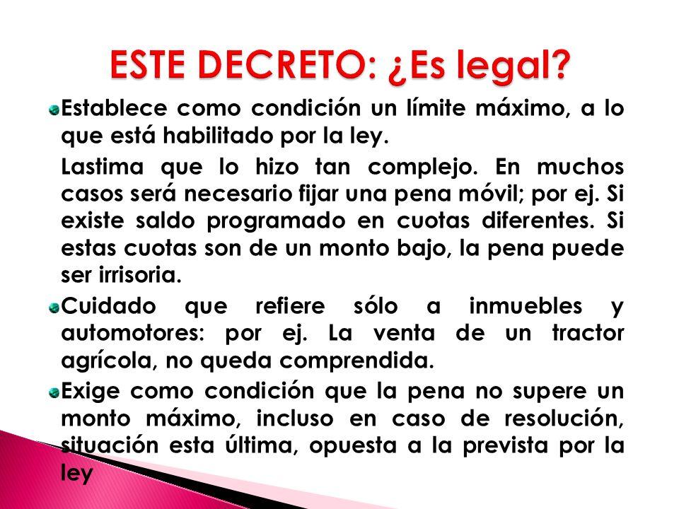 ESTE DECRETO: ¿Es legal