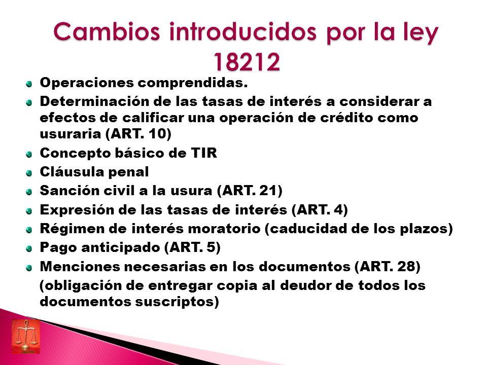 Cambios introducidos por la ley 18212