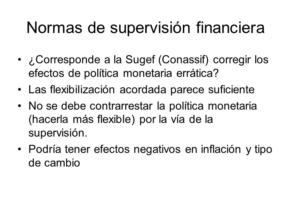 Normas de supervisión financiera