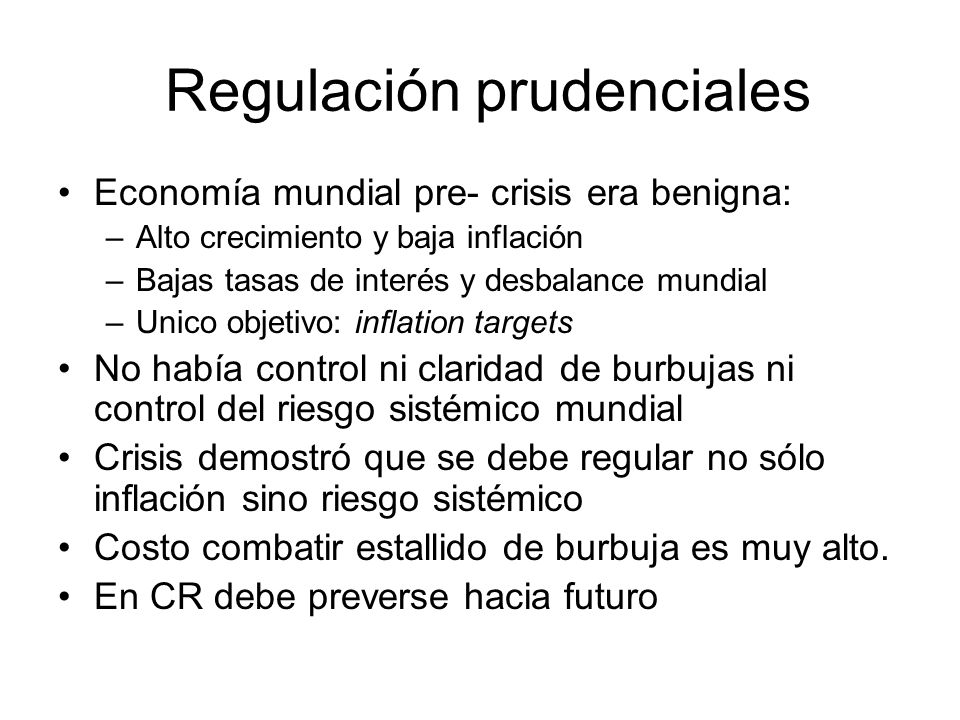 Regulación prudenciales