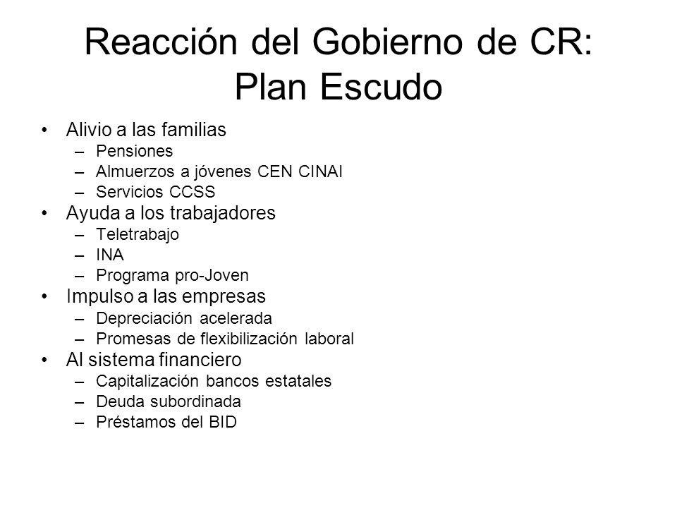 Reacción del Gobierno de CR: Plan Escudo