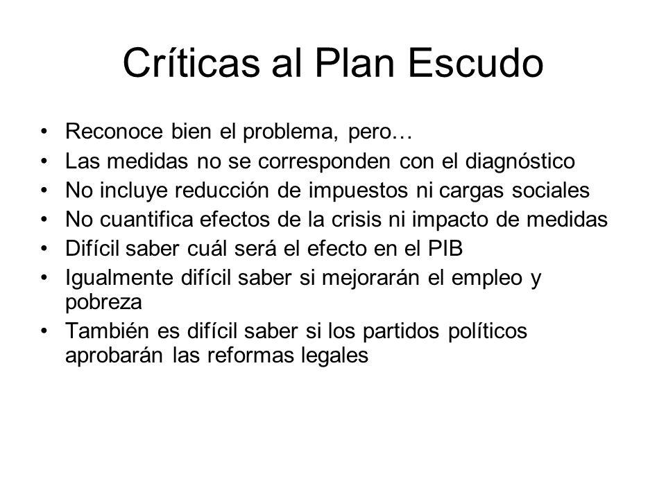 Críticas al Plan Escudo