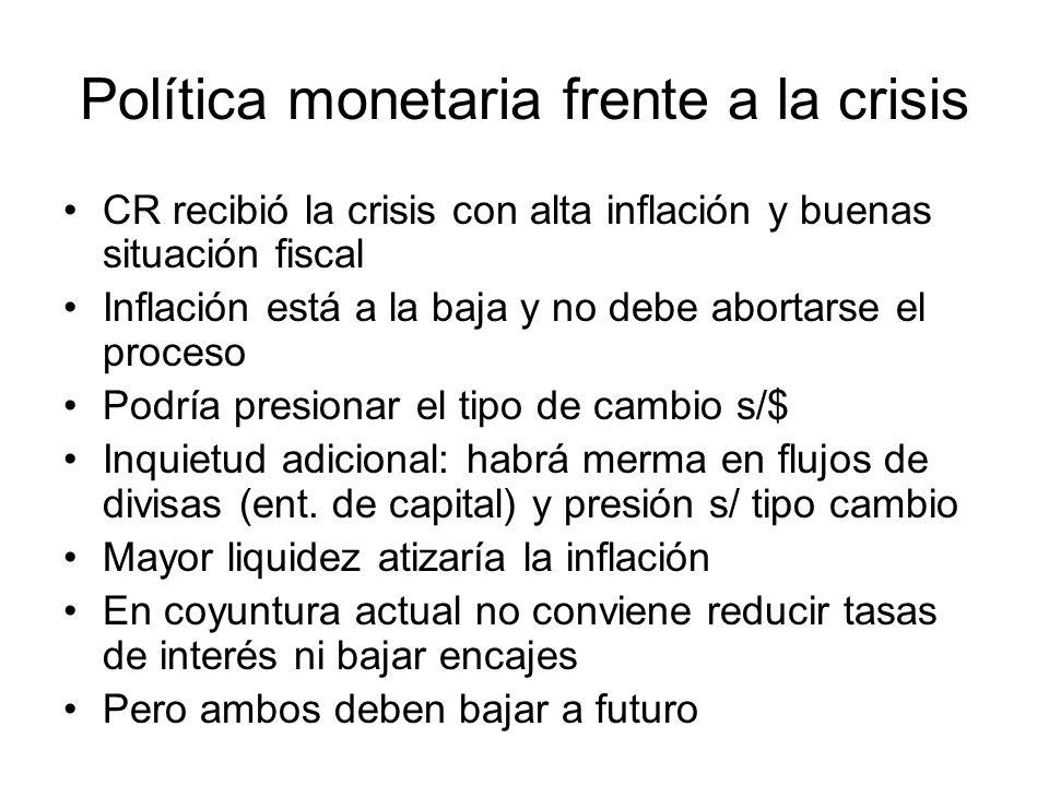 Política monetaria frente a la crisis