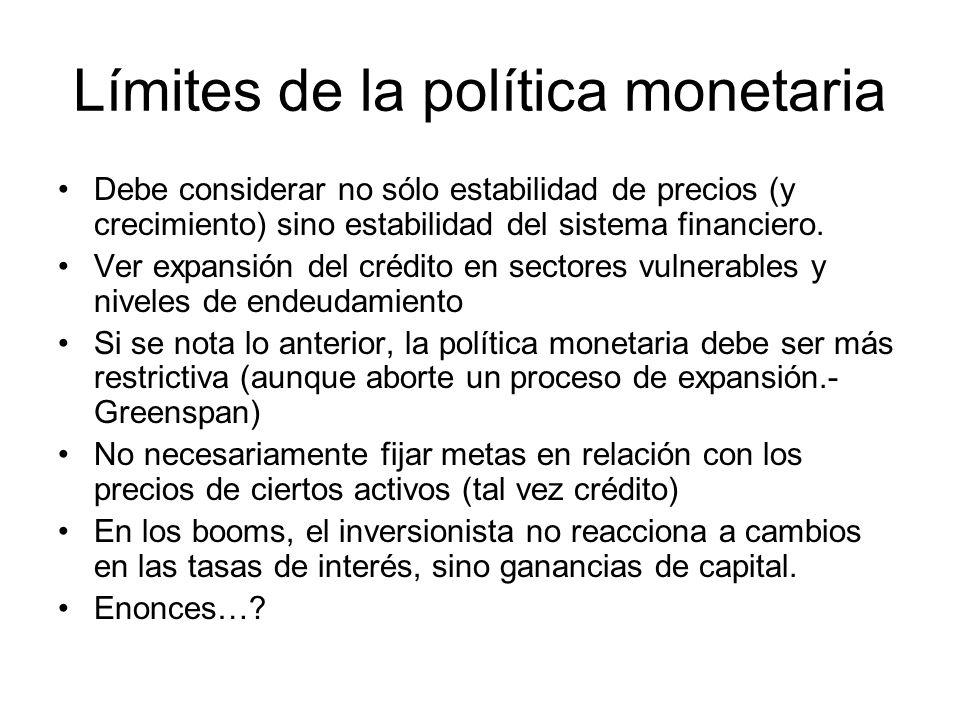 Límites de la política monetaria