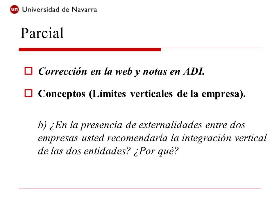Parcial Corrección en la web y notas en ADI.