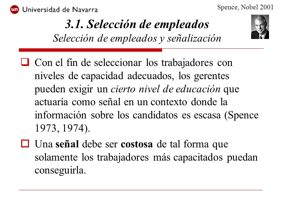 3.1. Selección de empleados Selección de empleados y señalización