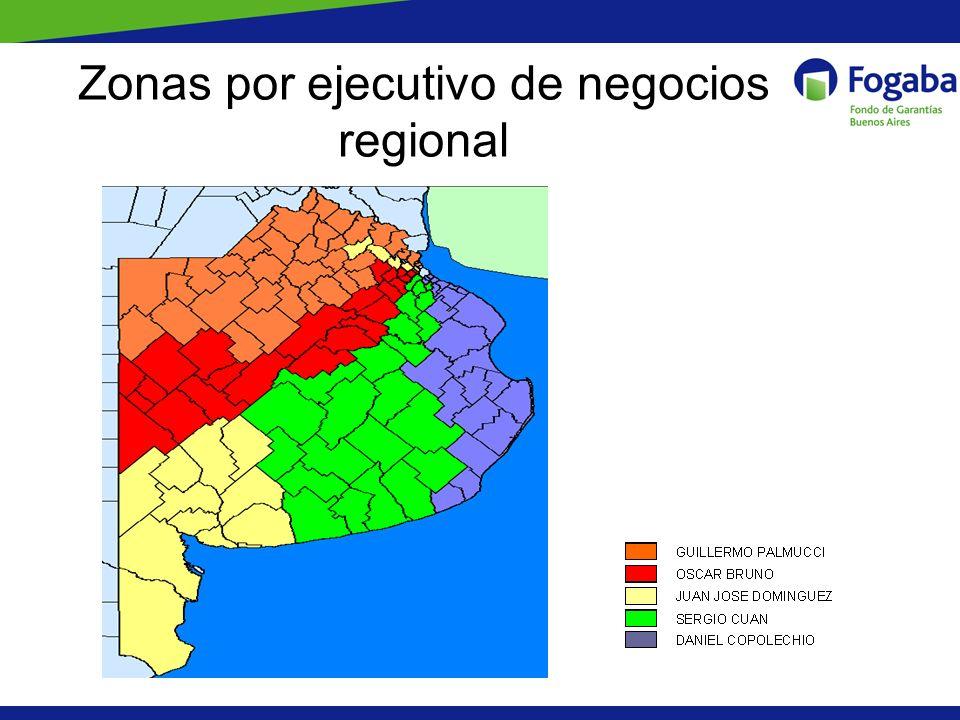 Zonas por ejecutivo de negocios regional